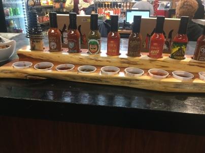 CaJohn's hot sauce samples